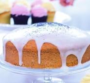 Citrónový koláč s makovým olejem